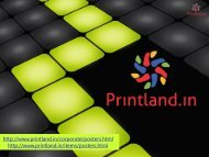 PrintLand.in - Buy Promotional or Corporate and Company Logo Printed Posters Online in India