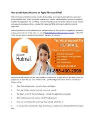 How_to_Add_Hotmail_Account_on_Apple_iPhone_and_iPad dial 1-855-490-2999