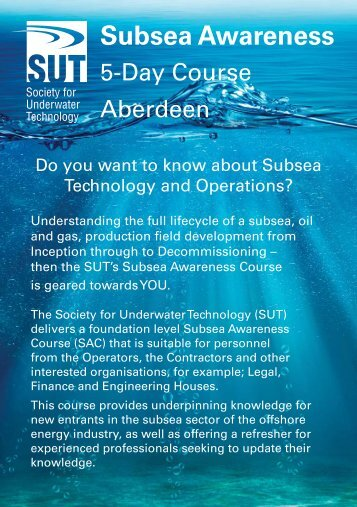 Subsea Awareness Course booklet
