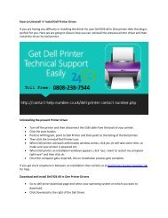 How to Uninstall 'n' Install Dell Printer Driver