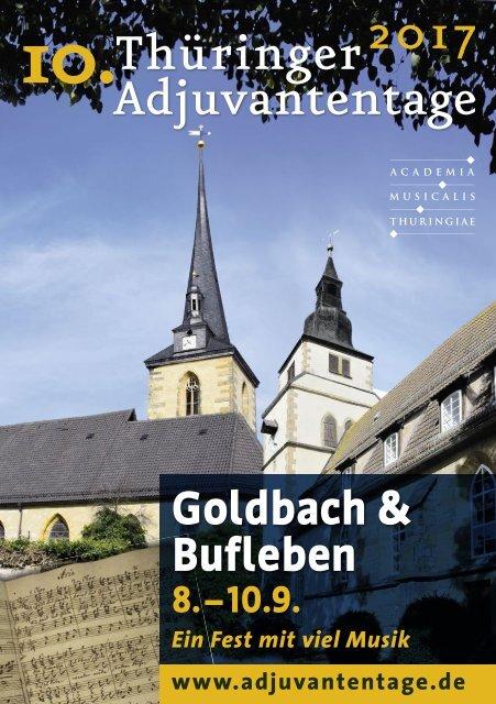 10. Thüringer Adjuvantentage 2017 - Programmheft