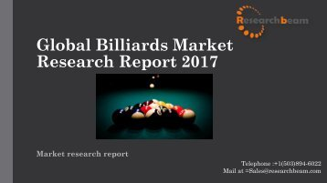 Global Billiards Market Research Report 2017