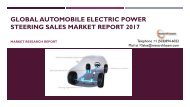 Global Automobile Electric Power Steering Sales Market Report