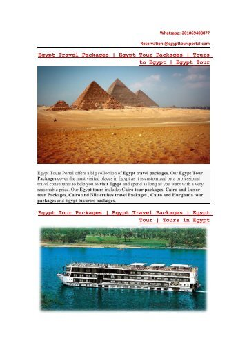 Egypt Travel packages  Best Travel Packages in Egypt   Egypt Tours Portal