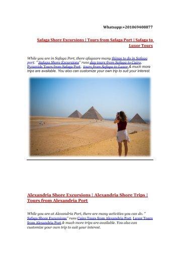 Safaga shore Excursions | Egypt Shore Excursions | Tours from Safaga to Luxor