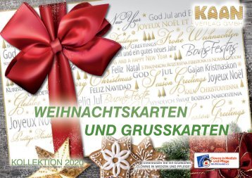 Weihnachtskarten Kaan Verlag GmbH Katalog 2018