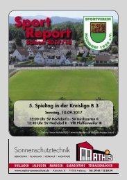 Sport Report - SV Hochdorf - Sonntag 10.09.2017