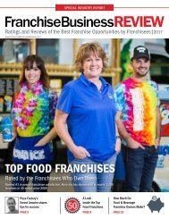 Top 40 Food and Beverage Franchises of 2017