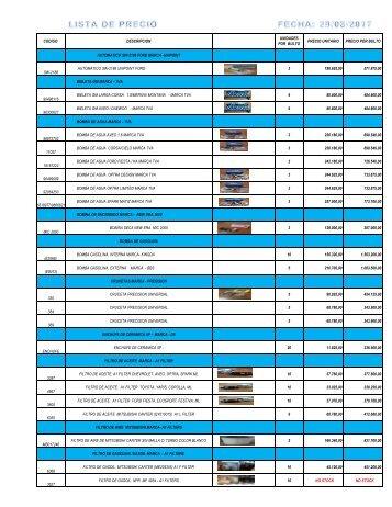 08 Lista Precio 29082017 CAMBIOS EN BULTOS Y MERCANCIA NUEVA