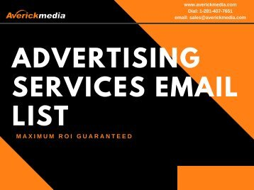 Advertising Services Email List