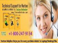 Free Norton Support +1-800-247-9134