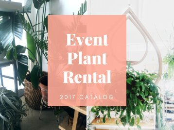 Event Plant Rental Catalog