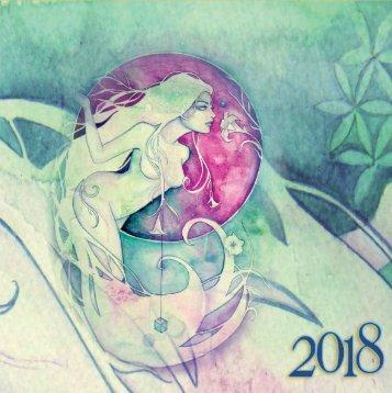 The Soul Bird Art 2018 wall calendar flip book