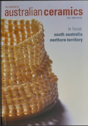 The Journal of Australian Ceramics Vol 45 No 1 April 2006