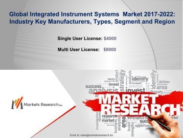 Global Integrated Instrument Systems Market 2017 Industry Trends, Growth, and Forecast to 2022