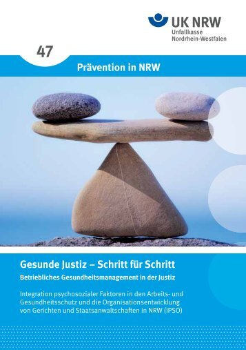 Prävention in NRW Gesunde Justiz