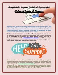Completely Resolve Technical Issues with Hotmail Support Number