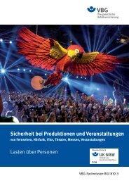 Sicherheit bei Produktionen und Veranstaltungen - Unfallkasse NRW