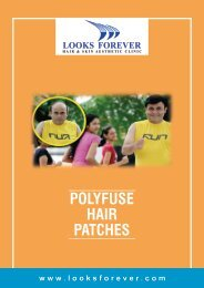 Polyfuse Hair Patches