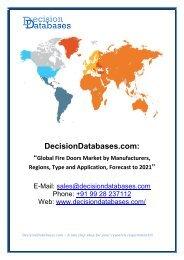 Access Fire Doors Market Research Report: Global Analysis 2017-2021