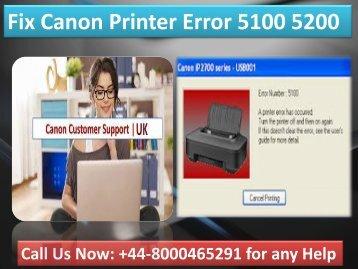 +448000465291 Clear Canon Printer Error 5100 5200