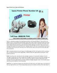 Epson Printer Error Codes with Solutions