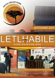 KATHU SOLAR PARK LETLHABILE SPRING EDITION NEWSLETTER FINAL