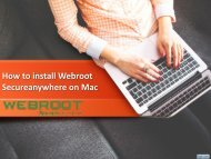 How to install Webroot Secureanywhere in mac