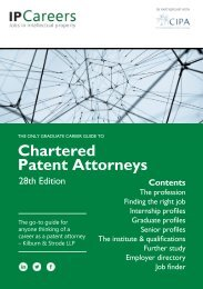 The Only Graduate Career Guide to Chartered Patent Attorneys - 28th Edition
