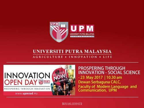 UPMIOD Social Science Innovation