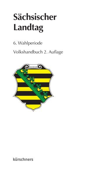 Volkshandbuch des 6. Sächsischen Landtags, 2. Auflage (2017)