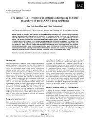 The latent HIV-1 reservoir in patients undergoing HAART: an archive ...