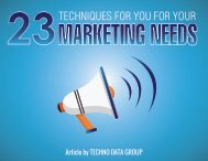 23-TECHNIQUES-FOR-YOU-FOR-YOU- MARKETIN- NEEDS