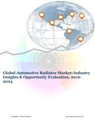 Global Automotive Radiator Market (2016-2024)- Research Nester