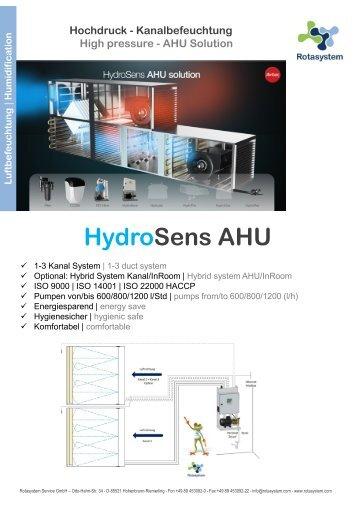 Rotasystem HydroSens AHU Kanalluftbefeuchtung DE