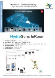 Rotasystem HydroSens InRoom Luftbefeuchtung