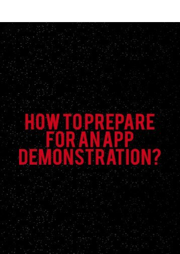 How to Prepare for an App Demonstration