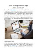 How to Prepare for an App Demonstration - Page 2