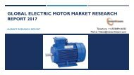 Global Electric Motor Market Research Report 2017