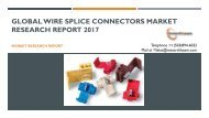 Global Wire Splice Connectors Market Research Report 2017