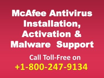 Free Mcafee Tech Support +1-800-247-9134