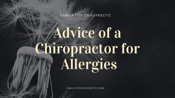 Advice of a Chiropractor for Allergies