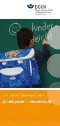 Schulranzen kinderleicht! - Deutsche Gesetzliche Unfallversicherung