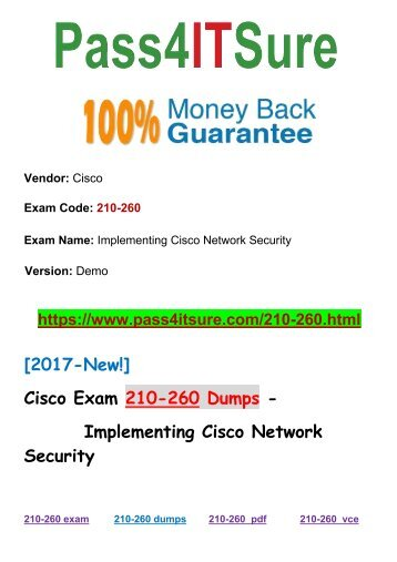 New Pass4itsure Cisco 210-260 Dumps PDF 275Q