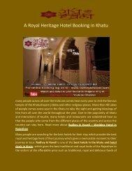 A Royal Heritage Hotel Booking in Khatu