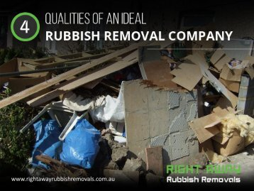 4 Traits of a Good Rubbish Removal Company in Sydney
