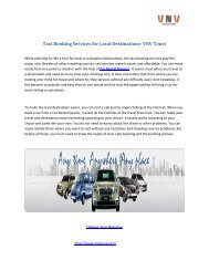 Taxi Booking Services for Local Destinations- VNV Tours