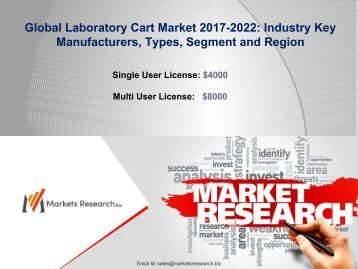 Global Laboratory Cart Market 2017 Manufacturers, Types, Application and Region