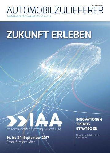 ZUKUNFT ERLEBEN – Automobilzuliferer zeigen Innovationen, Trends und Strategien