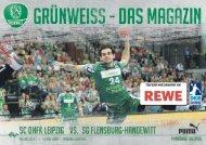 Grünweiss - das Magazin der SC DHfK Handballer SC DHfK vs. SG Flensburg-Handewitt
